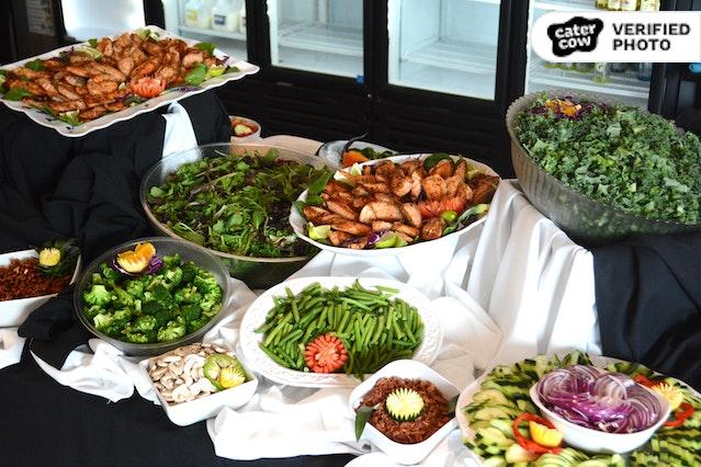 Classic Salad Bar with Beautiful Setup