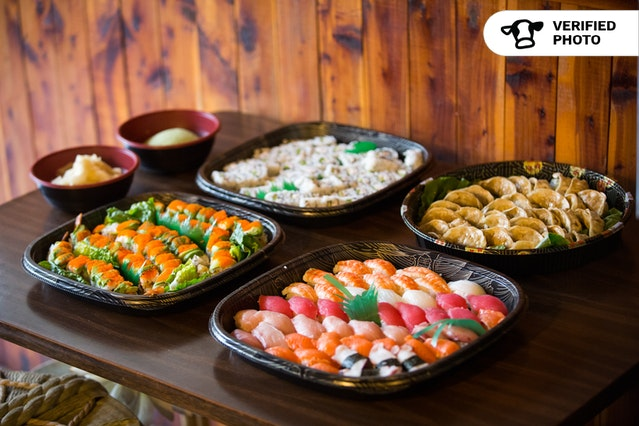 Sushi Spread + Gyoza Meal