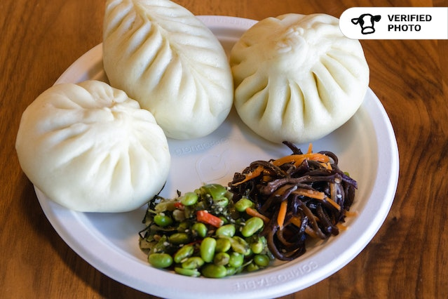 Authentic Chinese Steamed Buns Meal