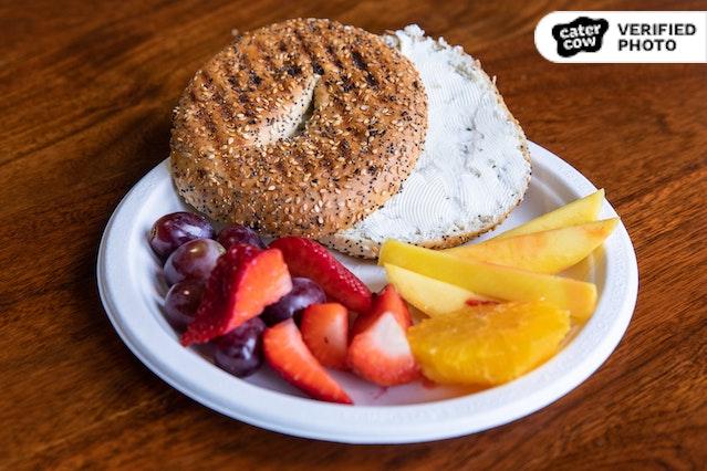 Bagel Breakfast with Fruit