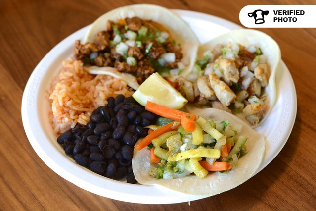 Red Rooster Taco Bar with Rice & Beans