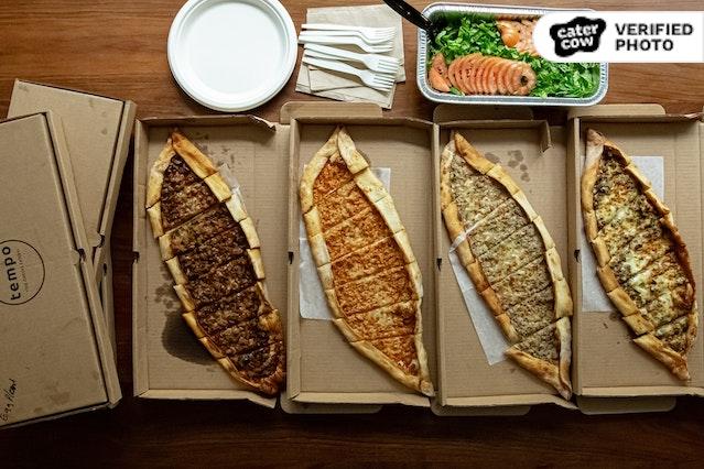 Turkish Street Pides & Salad