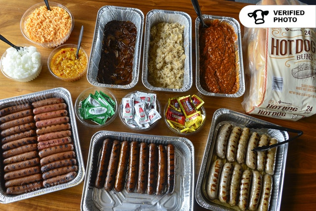 Top Your Own Hot Dog (or Sausage!) Bar