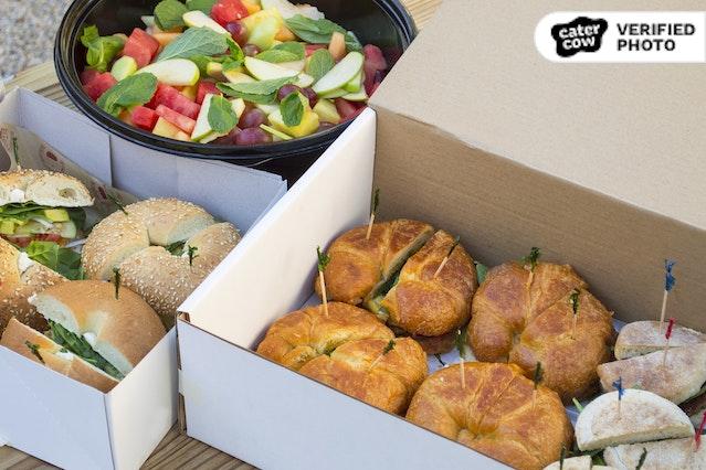 Breakfast Sandwiches & Fruit