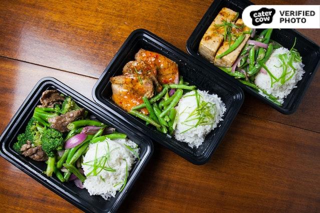 Individually-Boxed Asian Fusion Meal